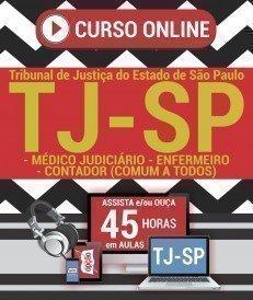 Curso On-Line MÉDICO JUDICIÁRIO, ENFERMEIRO E CONTADOR (CONTEÚDO COMUM A TODOS OS CARGOS) - Concurso TJ SP 2019