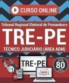 Curso On-Line TÉCNICO JUDICIÁRIO - ÁREA: ADMINISTRATIVA - Concurso TRE PE 2017
