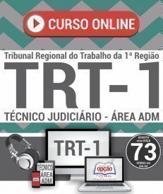 Curso On-Line TÉCNICO JUDICIÁRIO - ÁREA ADMINISTRATIVA - Concurso TRT 1ª Região 2018