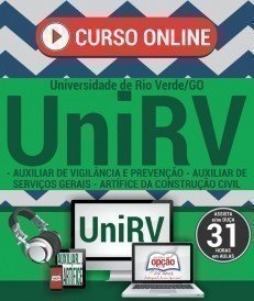 Curso On-Line CARGOS DE NÍVEL FUNDAMENTAL COMPLETO - Concurso UniRV 2017