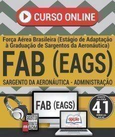 Curso On-Line SARGENTO DA AERONÁUTICA - ADMINISTRAÇÃO - Exame de Admissão FAB 2018