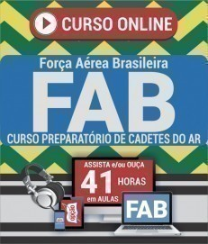 Curso On-Line CURSO PREPARATÓRIO DE CADETES DO AR - Exame de Admissão FAB 2019