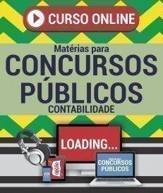 Curso On-Line CONTABILIDADE - Matérias para Concursos Públicos