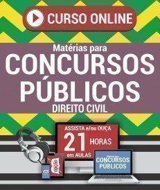Curso On-Line DIREITO CIVIL - Matérias para Concursos Públicos