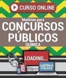 Curso On-Line QUÍMICA - Matérias para Concursos Públicos