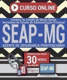 Curso On-Line AGENTE DE SEGURANÇA PENITENCIÁRIO - Processo Seletivo SEAP MG 2018