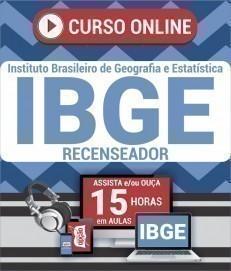 Curso On-Line RECENSEADOR - Processo Seletivo Simplificado IBGE 2019