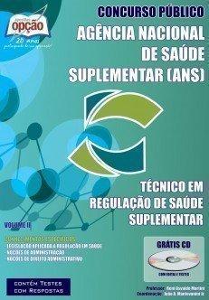 Apostila Técnico Em Regulação De Saúde Complementar - Volume Ii - Concurso A...