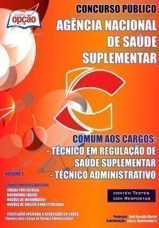 Apostila Técnico Em Regulação De Saúde Suplementar / Administrativo - Volume...