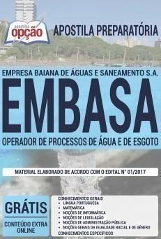 OPERADOR DE PROCESSOS DE ÁGUA E DE ESGOTO