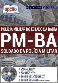 Apostilas do concurso Soldado da PMBA