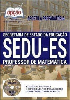 Apostila concurso SEDU ES Professor Matemática 2017-2018