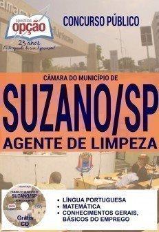 Apostila Câmara de Suzano 2016 AGENTE DE LIMPEZA