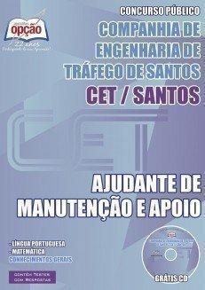 Apostila Ajudante De Manutenção  E Apoio - Concurso Companhia De Engenharia De...