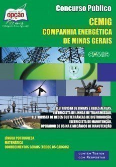 Apostila Eletricista/operador/mecânico - Concurso Companhia Energética De Mina...