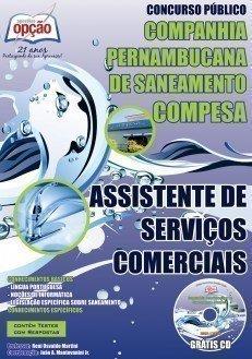 Apostila concurso COMPESA PE, 2016 para ASSISTENTE DE SERVIÇOS COMERCIAIS
