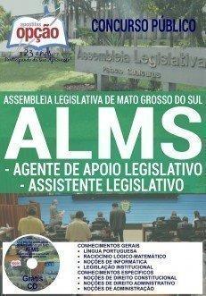 Apostila Concurso ALMS 2016 - Assembleia Legislativa de MS 2016 cargos AGENTE DE APOIO LEGISLATIVO