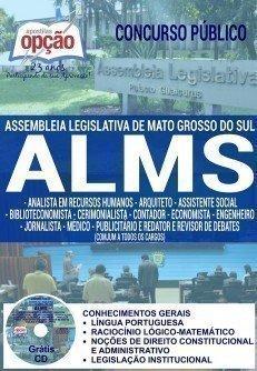 Apostila Concurso ALMS de Mato Grosso do Sul 2016, DIVERSOS CARGOS DE NÍVEL SUPERIOR