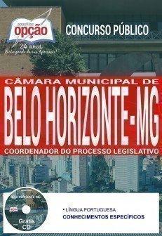 Apostila Concurso Câmara de Belo Horizonte 2017 | COORDENADOR DO PROCESSO LEGISLATIVO