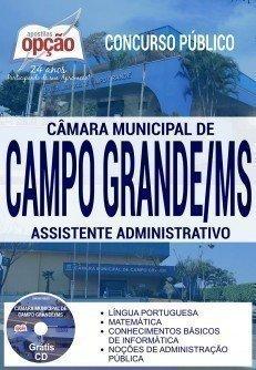 Apostila Concurso Câmara de Campo Grande 2017 | ASSISTENTE ADMINISTRATIVO