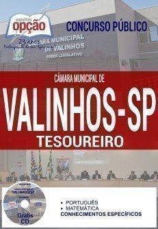 apostila TESOUREIRO câmara de Valinhos SP 2016.