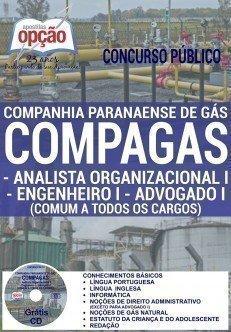 Apostila Concurso COMPAGAS Analista Organizacional - 2016 - Companhia Paranaense de Gás do Paraná-PR