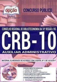 Apostila Concurso CRB 10ª REGIÃO 2018 | AUXILIAR ADMINISTRATIVO