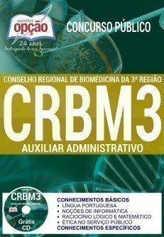 Apostila CRBM da 3 Região 2017 (grátis teste) Auxiliar Administrativo.