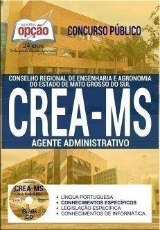 Apostila CONCURSO CREA MS 2017 - AGENTE ADMINISTRATIVO