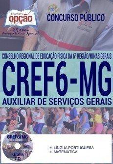 Apostila Concurso CREF6 MG AUXILIAR DE SERVIÇOS GERAIS