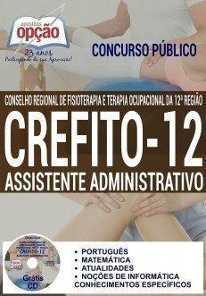 apostila concurso Crefito 12 Região 2016 ASSISTENTE ADMINISTRATIVO