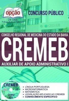 Apostila Concurso CREMEB 2017 | AUXILIAR DE APOIO ADMINISTRATIVO I