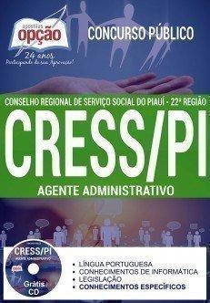 Apostila Concurso CRESS PI 2017 - AGENTE ADMINISTRATIVO