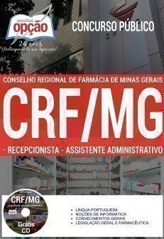 Apostila Concurso CRF MG Assistente Administrativo Grátis CD ROM, vídeo aula por download (PDF),