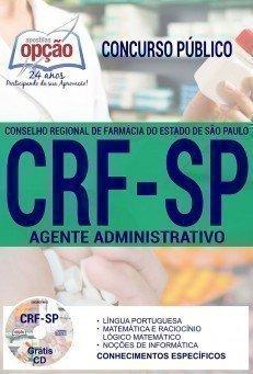 Apostila Concurso CRF SP 2017 - AGENTE ADMINISTRATIVO