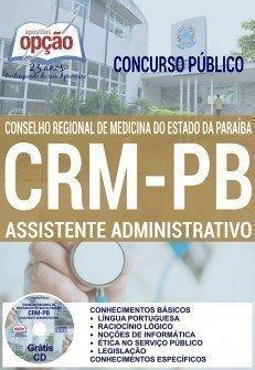 Apostila CRM Paraíba Assistente Administrativo - Conselho Regional de Medicina da PB (CRMPB)