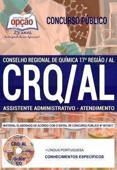 Apostila Concurso CRQ AL 2018 - ASSISTENTE ADMINISTRATIVO - ATENDIMENTO