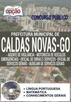 apostila Concurso da Prefeitura de Caldas Novas / GO 2016 CARGOS DE NÍVEL FUNDAMENTAL - NÍVEL I