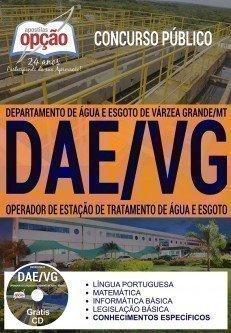 Apostila concurso DAE VG 2017 Operador de Estação de Tratamento de Água e Esgoto