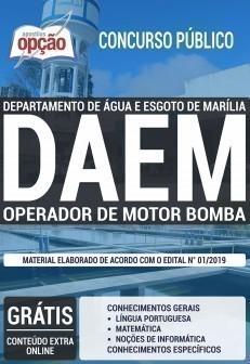 OPERADOR DE MOTOR BOMBA