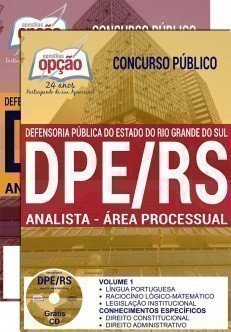 Apostila Concurso DPE RS 2017 para ANALISTA - ÁREA PROCESSUAL