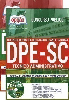 Apostila Concurso DPE SC 2018 | TÉCNICO ADMINISTRATIVO