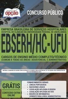 CARGOS DE ENSINO MÉDIO COMPLETO / TÉCNICO (COMUM A TODAS ÁREAS: ASSISTENCIAL E ADM)