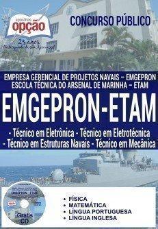 Apostila Emgepron ETAM 2017 TÉCNICO EM ELETRÔNICA, ELETROTÉCNICA, EST. NAVAIS E MECÂNICA
