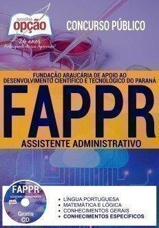 Apostila Concurso FAPPR 2017 - ASSISTENTE ADMINISTRATIVO