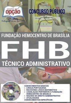 Apostila Hemocentro FHB TÉCNICO ADMINISTRATIVO 2017.