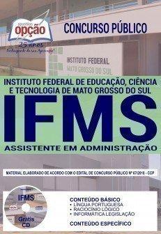concurso concurso ifms 2016 cargo assistente em administracao 3455.jpg?versao=0 - Concurso IFMS 2016: Aberto as inscrições para 60 vagas