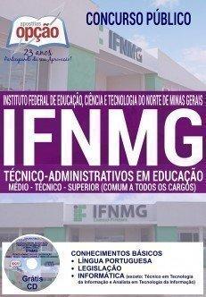 Apostila Concurso IFNMG TÉCNICO-ADMINISTRATIVOS 2016.