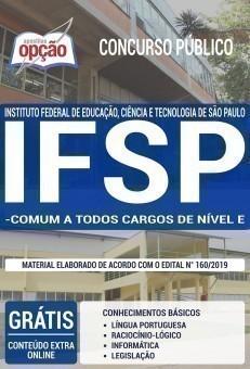 Apostila IFSP 2019 - COMUM AOS CARGOS DE NÍVEL E Edição