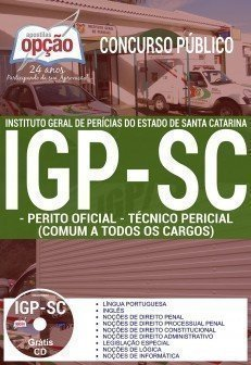 apostila perito criminal do IGP SC 2017/2018.